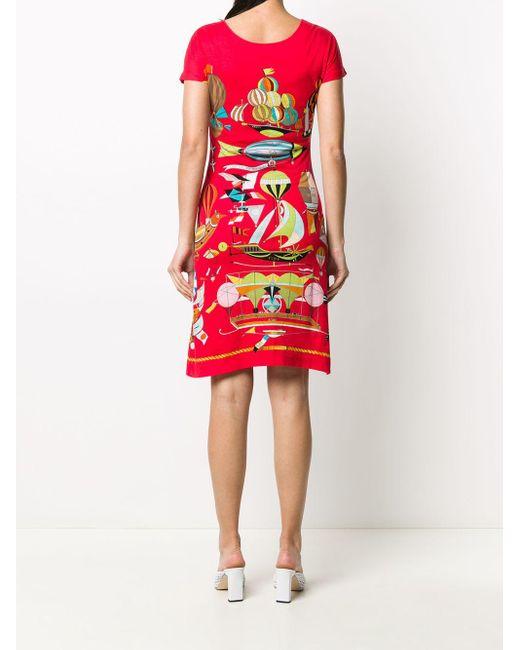 Hermès 2000s プレオウンド Les Folies Du Ciel ドレス Red