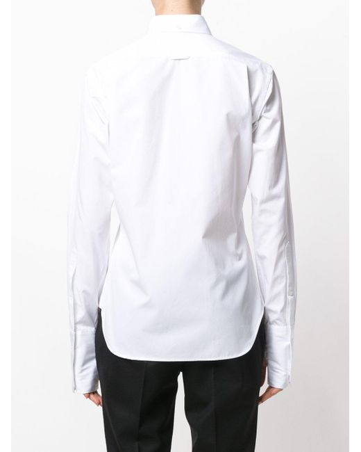Lyst thom browne classic shirt in white for Thom browne white shirt