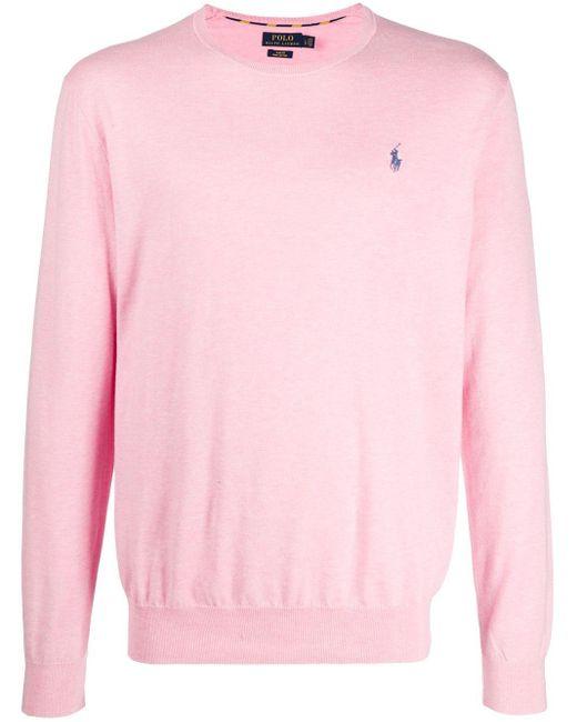 メンズ Polo Ralph Lauren ロゴエンブロイダリー セーター Pink