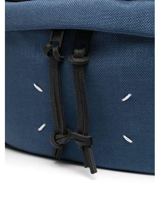 メンズ Maison Margiela ロゴ ベルトバッグ Blue