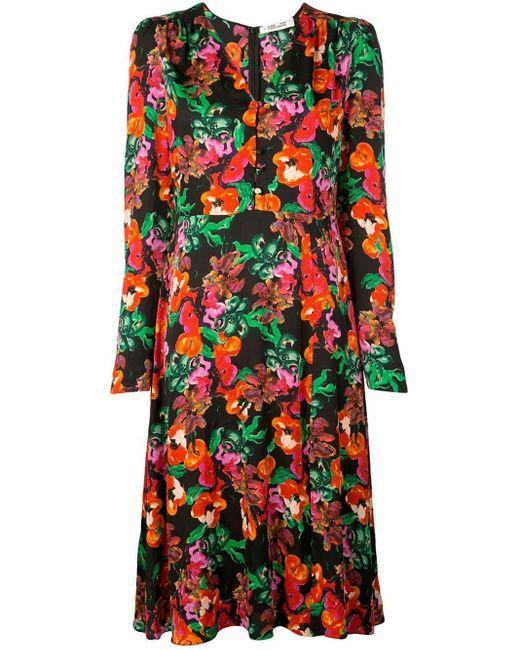 Diane von Furstenberg フローラル ドレス Multicolor