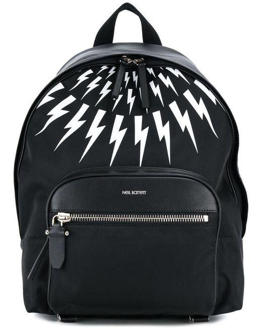 Neil Barrett - Black Lightning Bolt Backpack for Men - Lyst