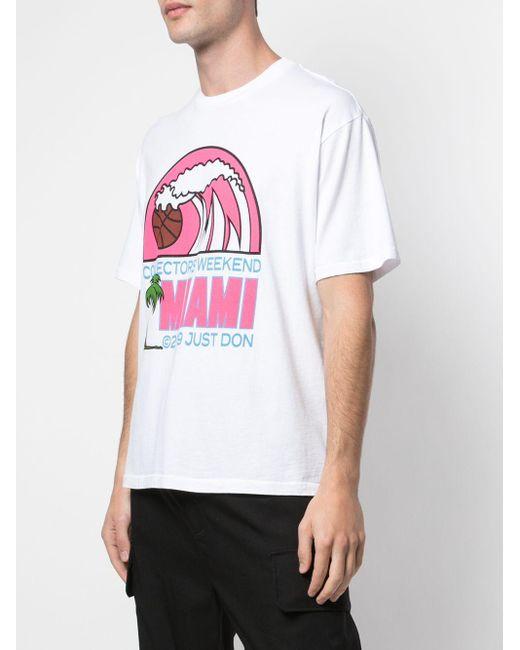 メンズ Just Don Miami プリント Tシャツ White