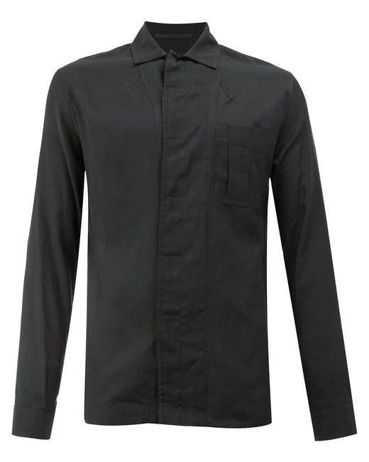 Haider Ackermann   Black Collarless Shirt for Men   Lyst