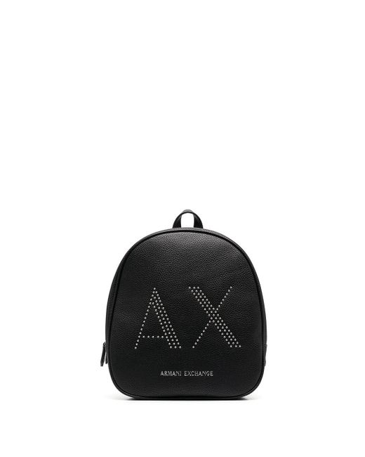 Armani Exchange ロゴ バックパック Black