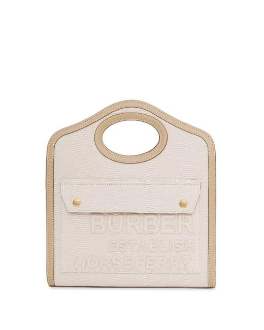 Сумка-тоут Pocket С Принтом Horseferry Burberry, цвет: Multicolor