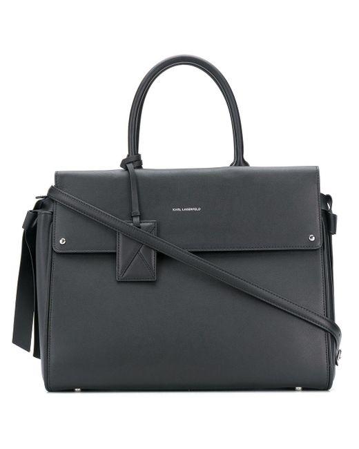 Karl Lagerfeld K/ikon ハンドバッグ Black