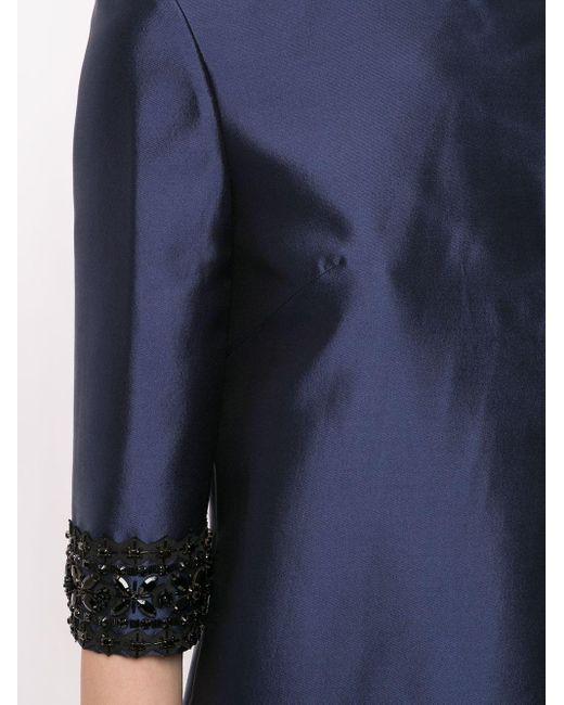 Carolina Herrera ビジュー ドレス Blue