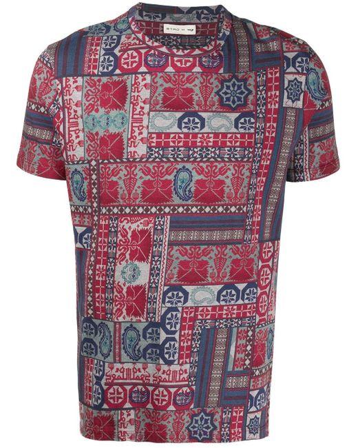 メンズ Etro ペイズリー Tシャツ Red