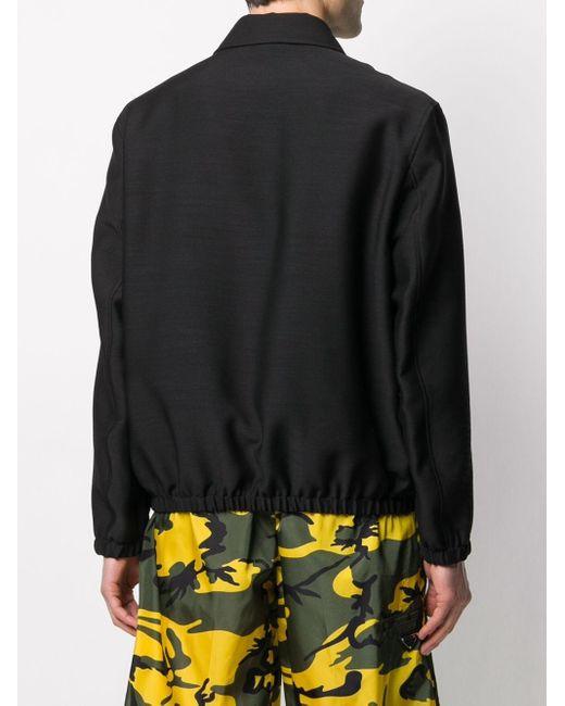 メンズ Fendi モノグラム ジップジャケット Black