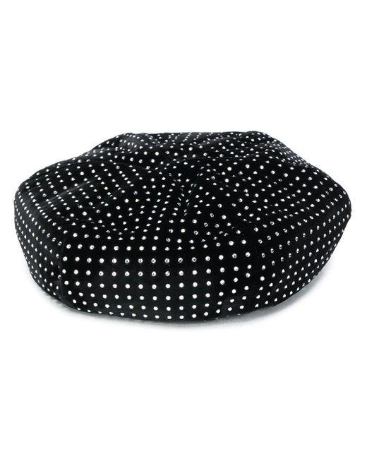 Saint Laurent ビジュー ベレー帽 Black