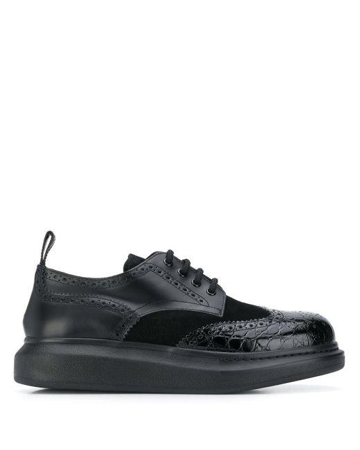 メンズ Alexander McQueen Hybrid Lace-up Black