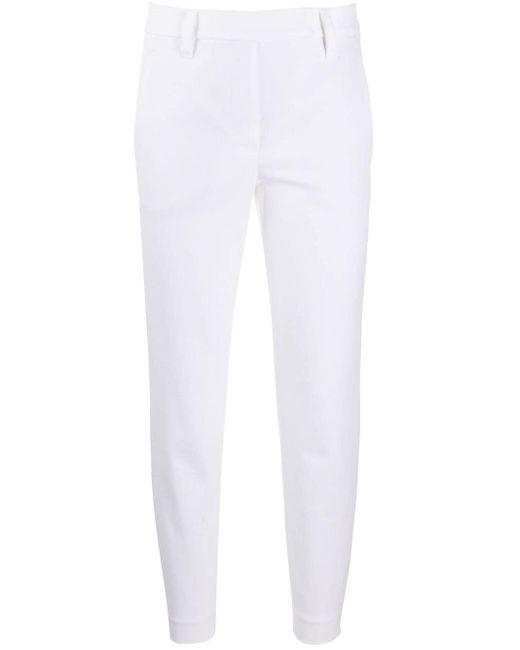 Укороченные Брюки Прямого Кроя Brunello Cucinelli, цвет: White