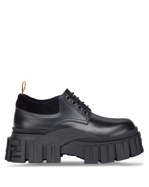 Туфли На Платформе Fendi для него, цвет: Black