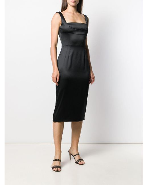 Dolce & Gabbana サテン ミディドレス Black