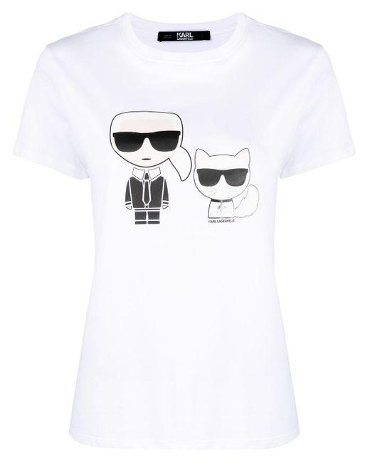 Karl Lagerfeld ロゴ Tシャツ White