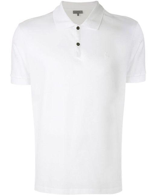 メンズ Lanvin クラシック ポロシャツ White