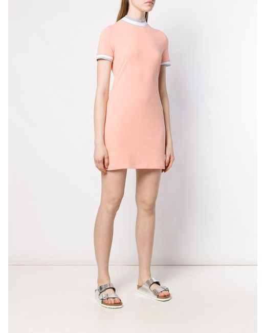 Alexander Wang Orange Mini T-shirt Dress