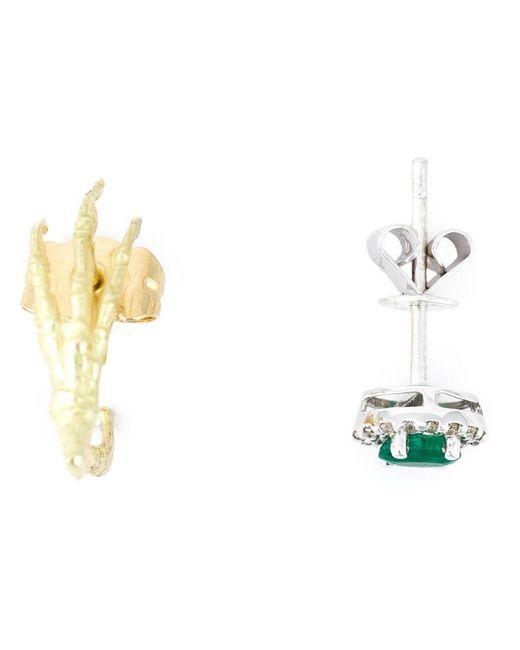 Wouters & Hendrix - Metallic Claw & Emerald Stud Set Of Earrings - Lyst
