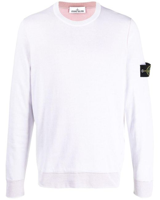 Толстовка С Нашивкой-логотипом Stone Island для него, цвет: White