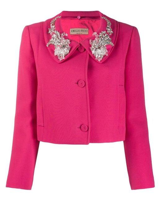 Emilio Pucci クロップドジャケット Pink
