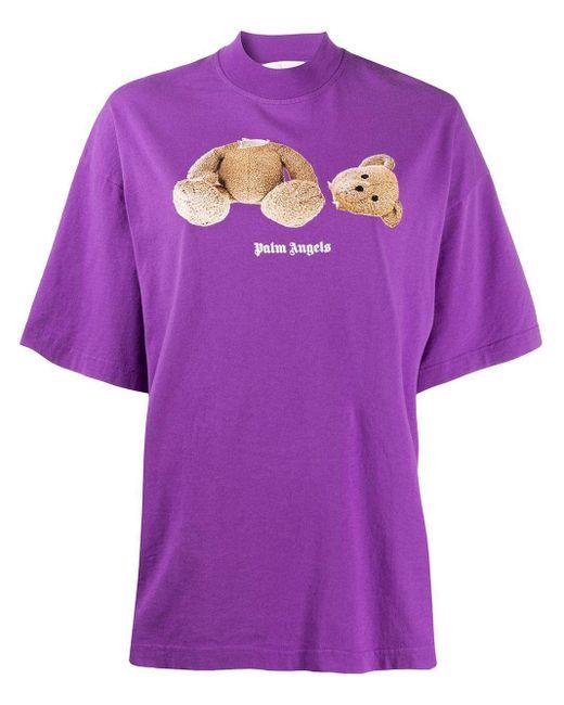 Palm Angels パープル Bear T シャツ Purple