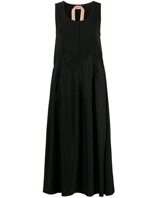 Платье С Кружевом И Оборками N°21, цвет: Black