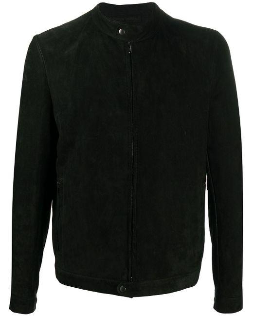 メンズ Salvatore Santoro ジップアップ レザージャケット Black