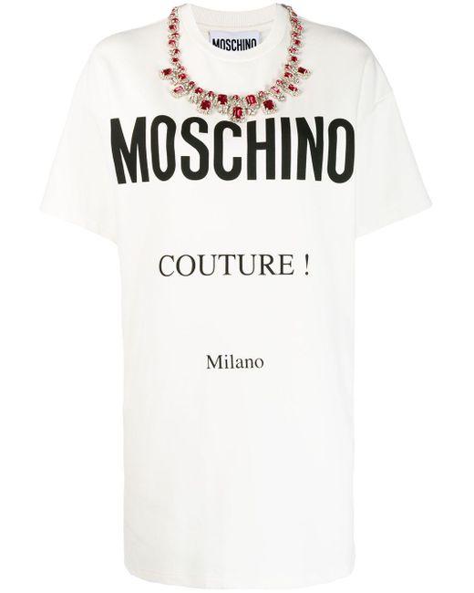 Moschino ロゴ Tシャツドレス White