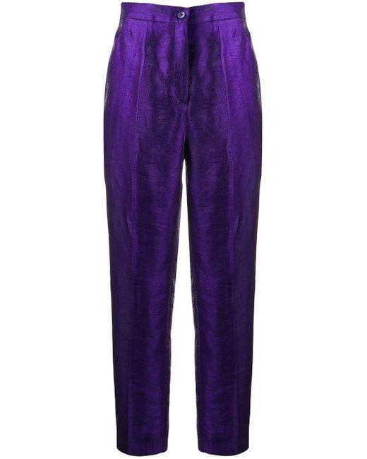 Etro テーパードパンツ Purple