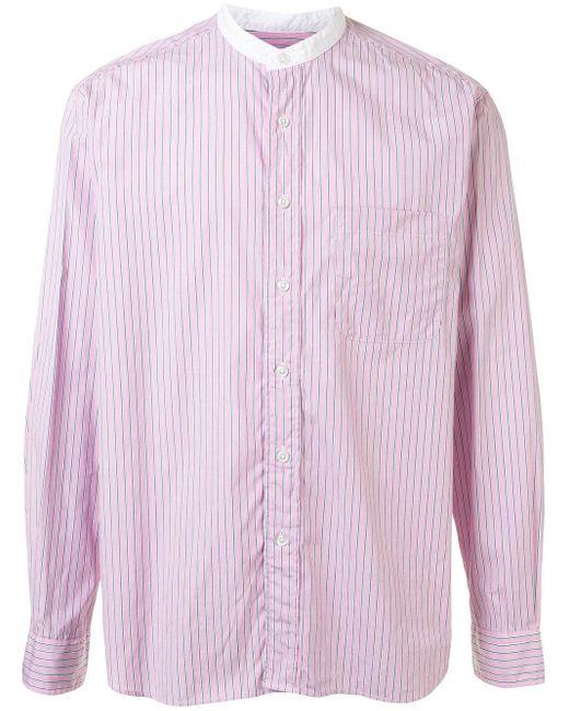 メンズ Sophnet マンダリンカラー シャツ Pink