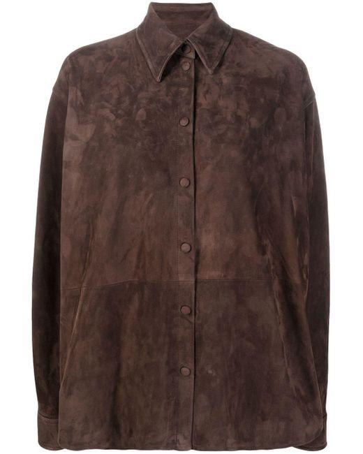 Loewe レザーシャツ Brown