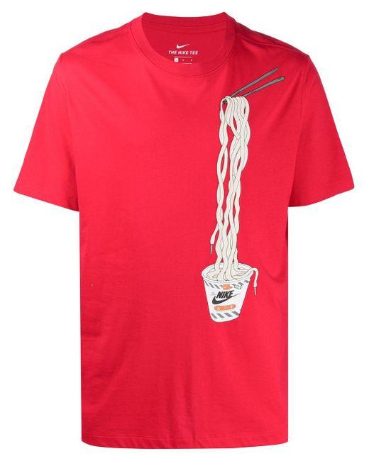 メンズ Nike ショートスリーブ Tシャツ Red
