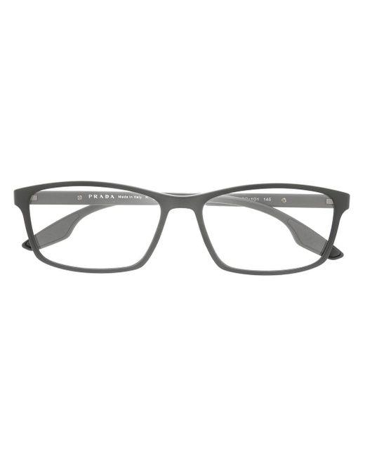 メンズ Prada アンギュラー眼鏡フレーム Multicolor
