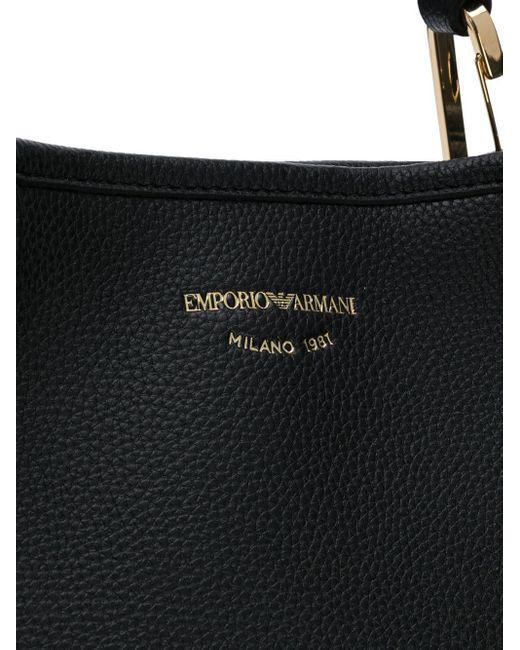 Emporio Armani ロゴストラップ ハンドバッグ Black