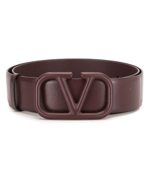 Cintura con fibbia VLOGO di Valentino Garavani in Brown