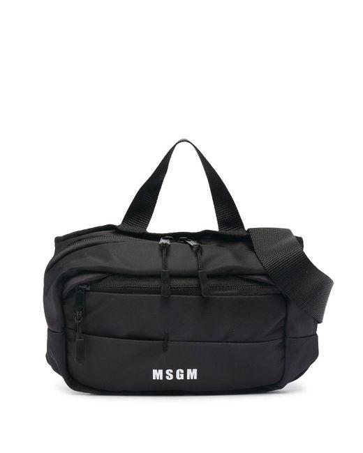 MSGM ロゴ ベルトバッグ Black