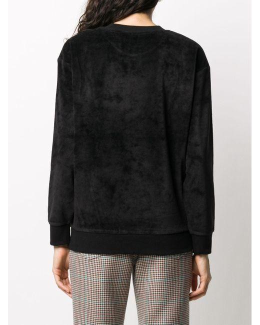 Carhartt WIP ベロア スウェットシャツ Black