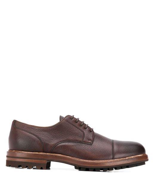 Thick Sole Derby Shoes Brunello Cucinelli для него, цвет: Brown