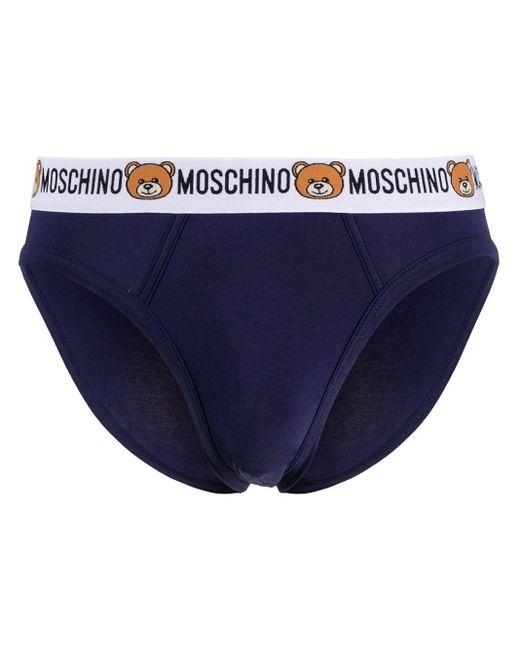 メンズ Moschino テディベア ブリーフ Blue