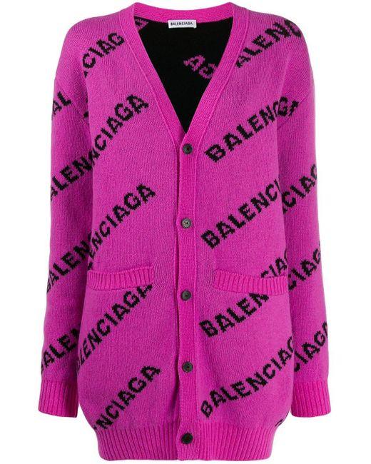 Balenciaga ロゴ カーディガンコート Pink