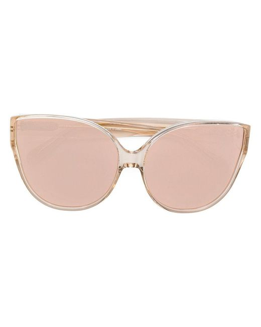 481a1e1a0cc1 Linda Farrow - Brown Cat Eye Sunglasses - Lyst ...