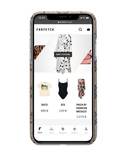 Чехол Ophidia Для Iphone Xs Max Gucci, цвет: Brown