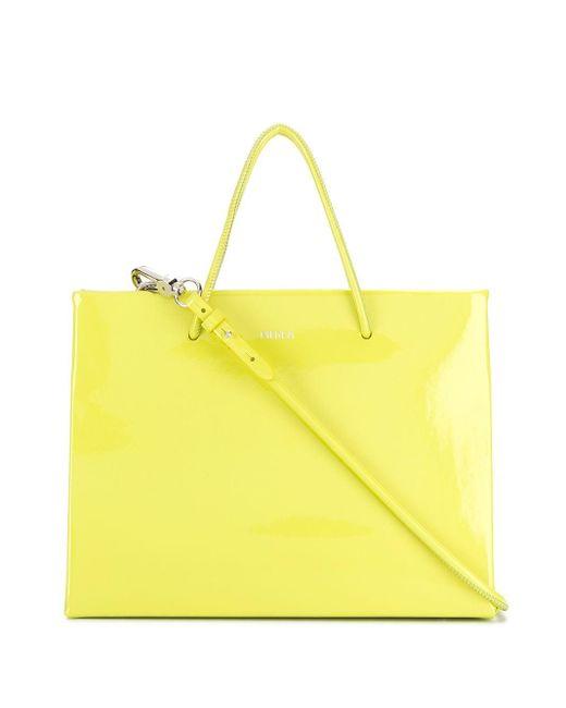MEDEA Green Medium Shopping Tote Bag