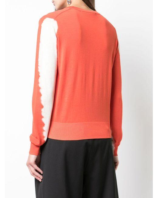 Трикотажный Топ С Круглым Вырезом И Принтом Тай-дай Proenza Schouler, цвет: Orange