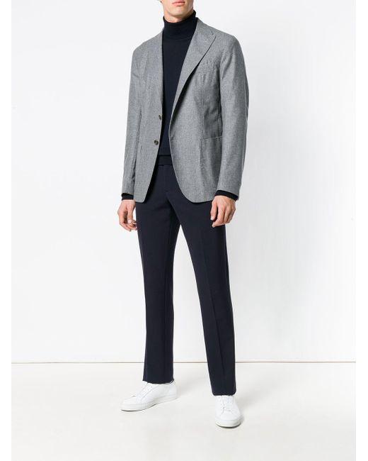 Eleventy Perfect Getailleerde Jas in het Gray voor heren