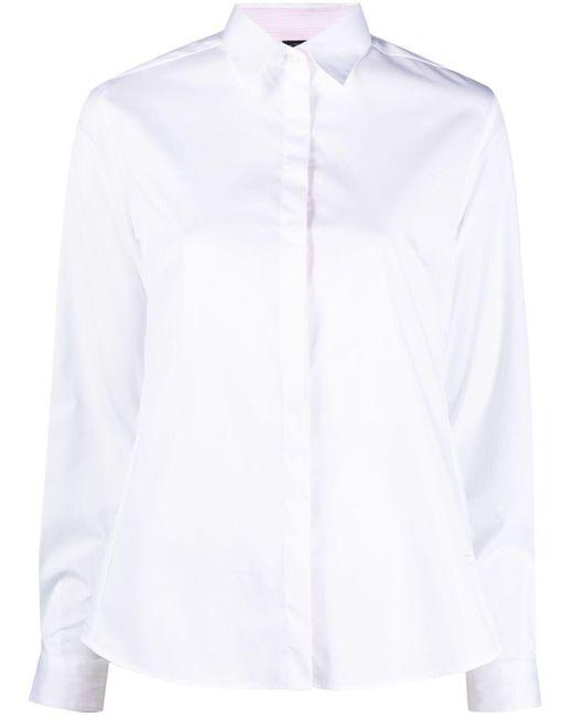 Fay ボタン シャツ White
