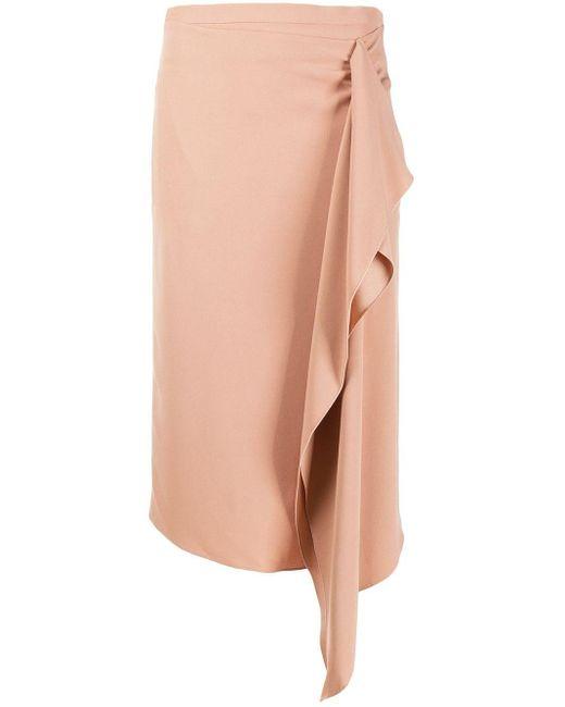 Rochas Multicolor Draped Skirt
