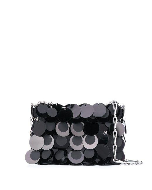 Paco Rabanne Black Embellished Shoulder Bag