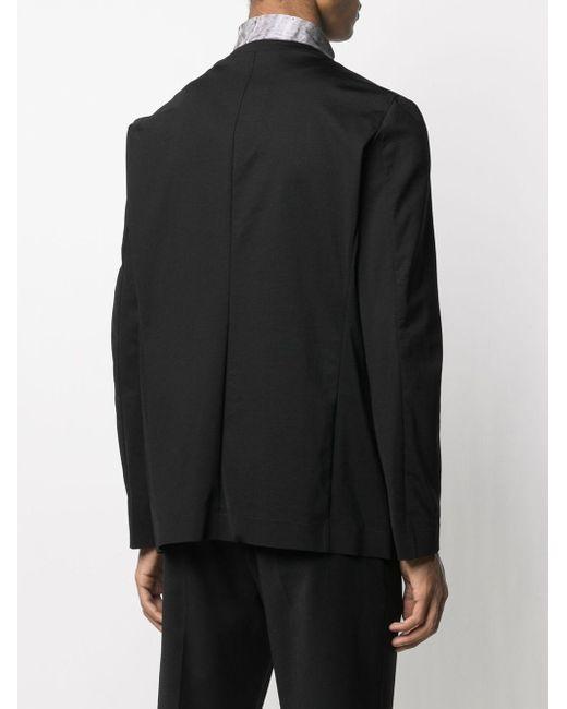 メンズ Attachment Vネック シングルジャケット Black